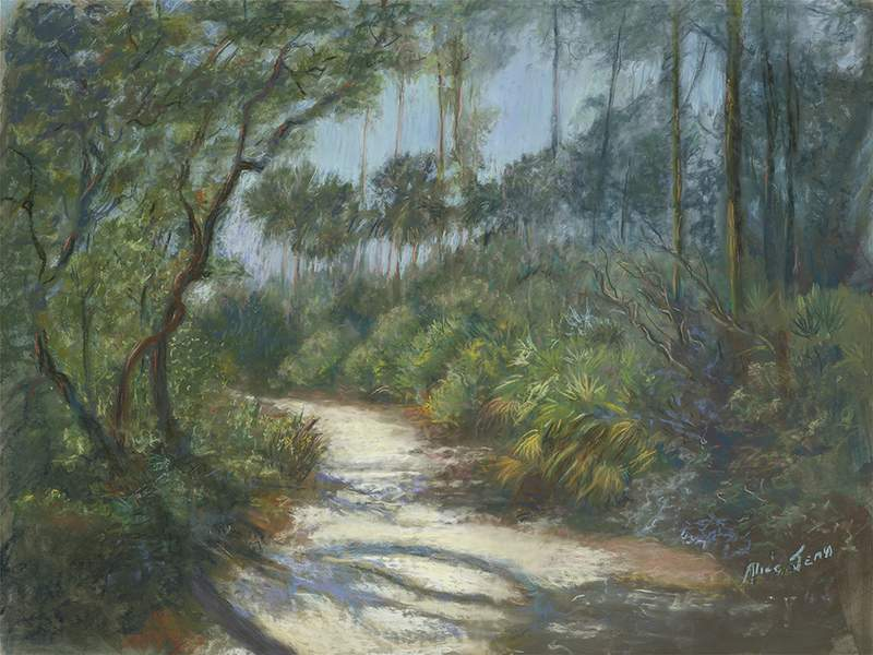 "Alice Jean Anderson (Gibbs) - ""Enchanted Forrest"" - Pastel aprox16x20"" - NFS not for sale"