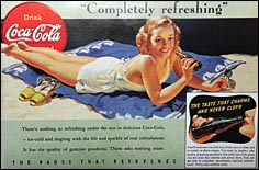 This Coca-Cola poster from 1941 shows Apalachicola resident Allice Jean Gibbs, who posed for many of the beverage's advertisements inthe 1930s and '40s.